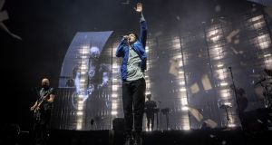 The Script on stage at the 3Arena, Dublin, on Thursday. Photograph: Crispin Rodwell/The Irish Times