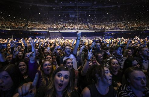 The adoring crowd at The Script concert. Photograph:  Crispin Rodwell/The Irish Times