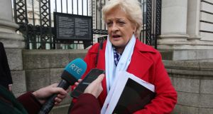 Ictu  General Secretary Patricia King leaving Government Buildings on Friday after talks on Coronavirus. Photograph: Sam Boal/Rollingnews.ie