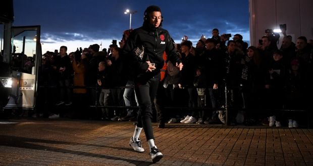 Jesse Lingard of Manchester United arrives at Pride Park ahead of the FA Cup match against Derby County. Photo: Michael Regan/Getty Images