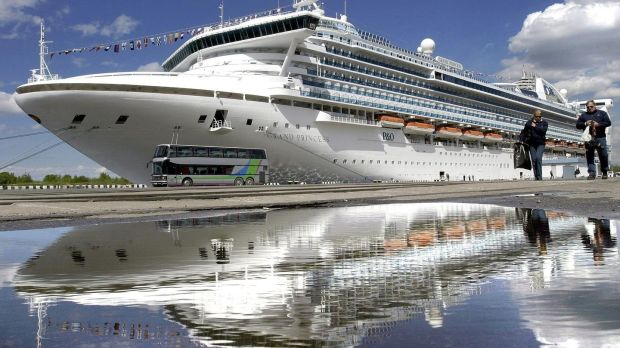Grand Princess cruise ship waits off California coast for coronavirus tests. Photograph: Stringer/ InterpressAFP/ Getty Images