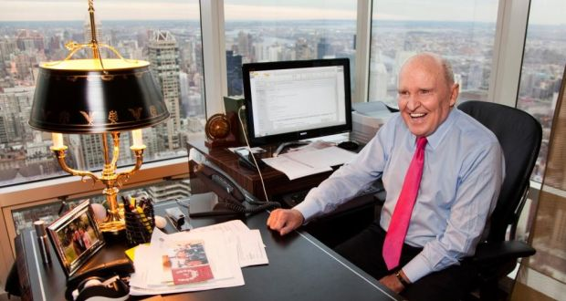 Jack Welch at his office in New York in 2011. 'I detest bad businesses, because bad businesses crumble people,' he wrote in his memoir. Photograph: Brooks Kraft/Corbis/Getty