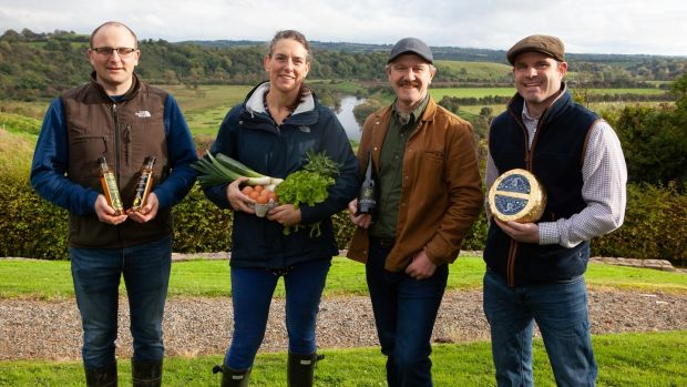 Slane Food Circle members Jack Rogers, Carina Conyngham, Mark Jenkinson and Michael Finegan