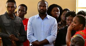 The arrest of Ugandan  filmmaker Moses Bwayo has been condemned by the US and EU embassies, as well as international press freedom groups.  Photograph: Reuters/Abubaker Lubowa