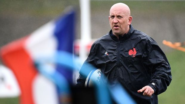 France and defence coach Shaun Edwards visit Murrayfield on Sunday. Photograph: Franck Fife/AFP/Getty