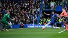 Olivier Giroud scores Chelsea's fourth goal at Stamford Bridge. Photograph: Mike Hewitt/Getty Images