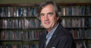 Sebastian Barry, Laureate for Irish Fiction, has described his own writing as motivated by 'the thing that hurt me into trying to put something back in its place'. Photograph:  Darragh Kane