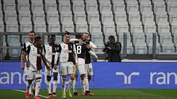 Ramsey Scores As Juventus Beat Inter In Empty Stadium