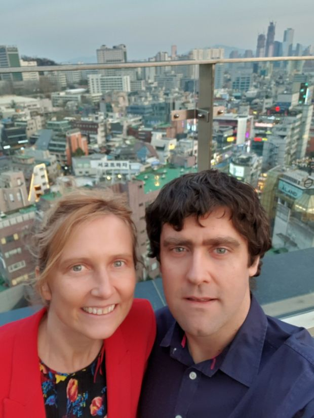 Galway woman Dairín Frawley lives with her husband Kieran in Seoul, South Korea.