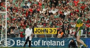 Frank Hogan at the All Ireland Football Final in 2004 Kerry vs Mayo. Photograph:  INPHO/Billy Stickland