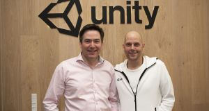 Artomatix chief executive Joe Blake and Unity's vice-president of engineering Brett Bibby.