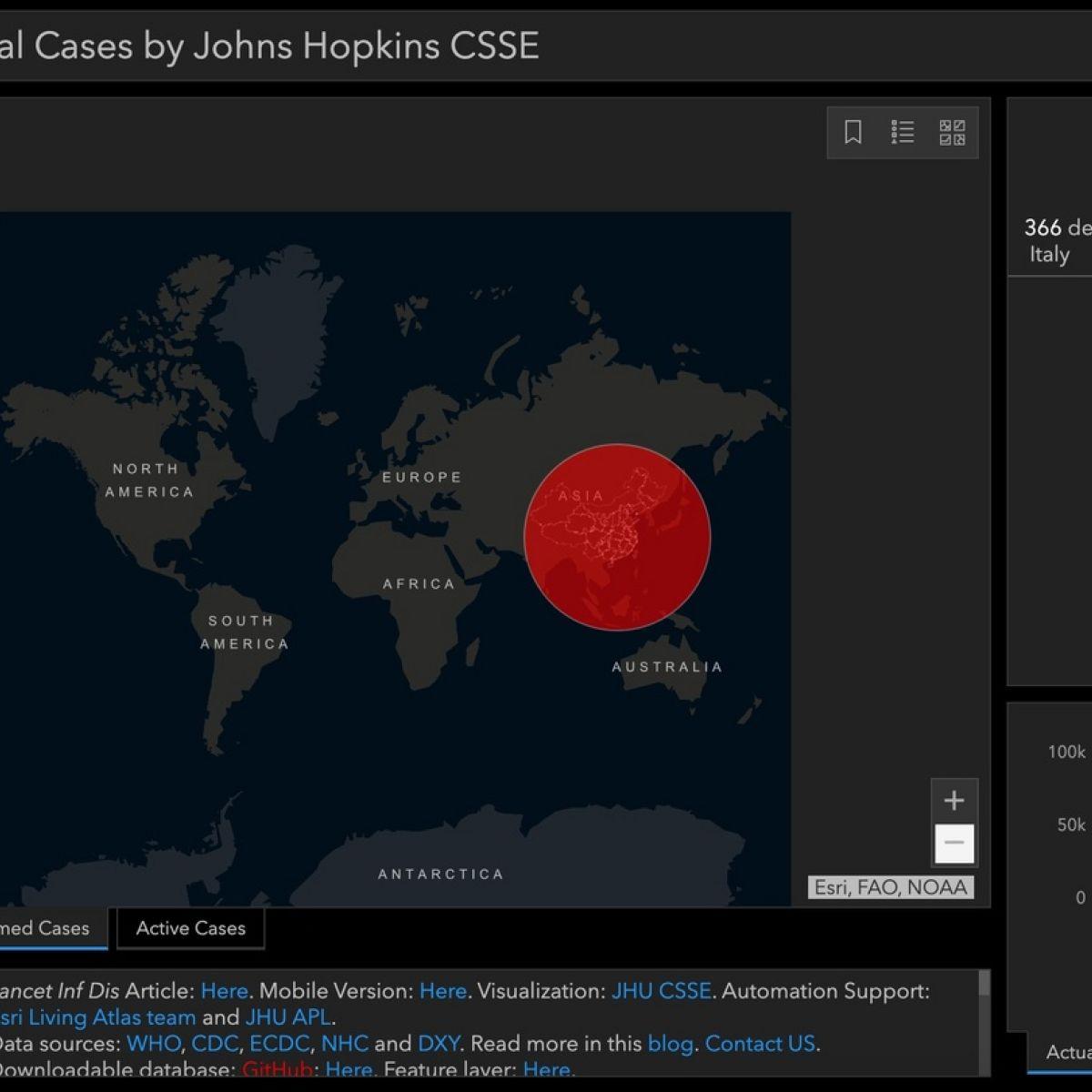 coronavirus update map arcgis