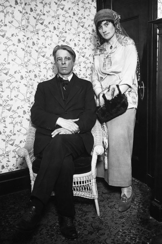 William Butler Yeats and h;is wife Georgie during visit to the US in the late 1920s. Photograph: Getty