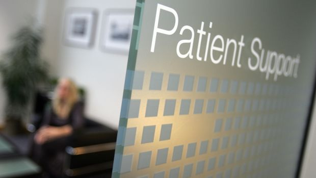 Patient support at Sims clinic in Dublin. Photograph: Alan Betson