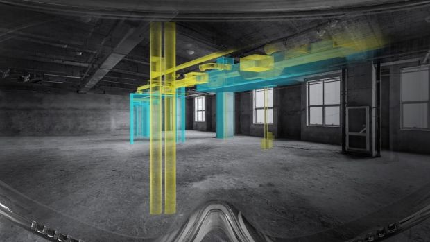 HoloSite is essentially a goggled headset, which allows those working on a major construction project to see the plans, projected in full-size 3D in front of them