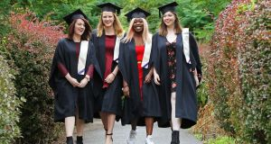 Students graduating from CSN College of Further Education in Cork. Further education is becoming an important route for entry into third-level degree courses. File photograph: Diane Cusack