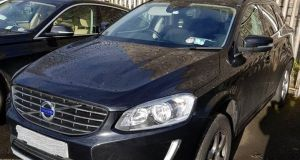 A Volvo XC60 SUV and a BMW 730D car were among the property seized in a Criminal Assets Bureau operation targeting an alleged  Dublin drug dealer on Wednesday. Image: CAB