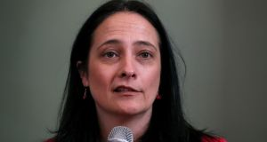 Green Party deputy leader Catherine Martin: she said her party would continue government talks if its  national administration proposal was rejected. Photograph: Brian Lawless
