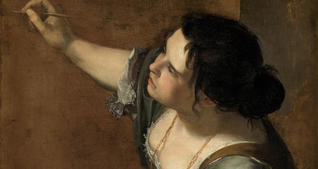 Detail from Self-Portrait as the Allegory of Painting by Artemisia Gentileschi