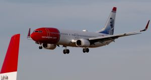 Norwegian Air will temporarily lay off half its employees. Photograph: Ints Kalnins/Reuters
