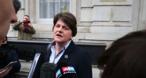 DUP leader Arlene Foster: report found she should not have been presented with a document which lacked all the necessary cost information, but she equally should not have signed it. Photograph:  Jonathan Brady/PA