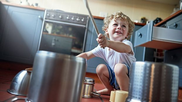 Toddlers: Let them loose with some pots and pans