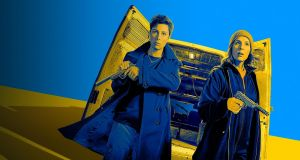 Mel Giedroyc and Sue Perkins in Hitmen, premiering Wednesday on Sky One