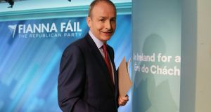Fianna Fáil leader Micheál Martin: 'In moments like this you just have to step up to the plate.' Photograph: Fran Veale