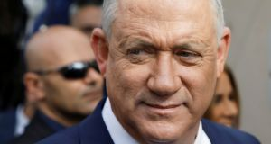 It remains unclear whether Benny Gantz's centrist Blue and White Party can break the political stalemate.   Photograph: Reuters/Nir Elias