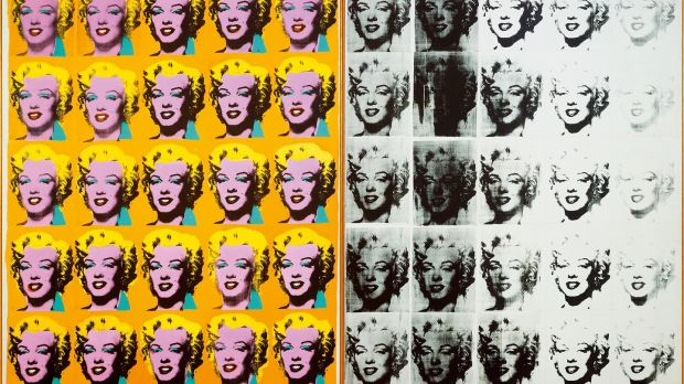 Marilyn Diptych (1962): Warhol presented celebrities treated as religious icons.
