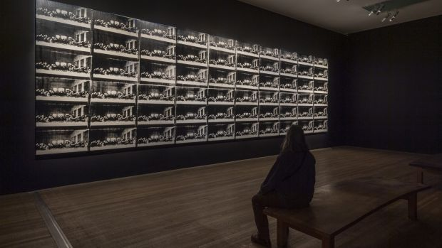 Warhol's screenprinted mural of The Last Supper, repeated 60 times, makes a point about consumerism.