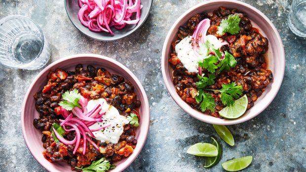 Vegetarian chilli. Photograph: Julia Gartland/The New York Times