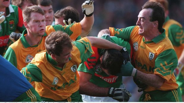 The 1996 All-Ireland football final replay betwee Meath and Mayo - the GAA's revenues have increased roughly four times in the 24 years since. Photograph: Inpho