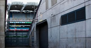 A closed Croke Park after Irish sport was brought to a halt by coronavirus. Photograph: Ryan Byrne/Inpho