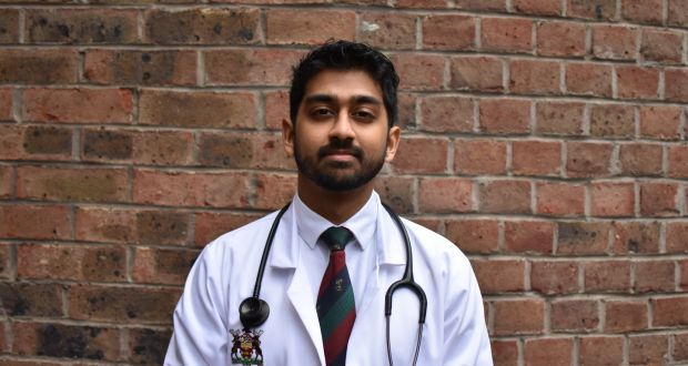 Final year RCSI medicine student Anthony Javed Machikan who has faced earlier exams this year to help prepare for the coronavirus threat.