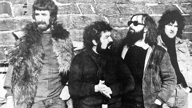 Ballydehob bohemians: John Verling, Pat Connor, Brian Lalor and David Chechovich, 1970s. Photograph: Ballydehob Arts Museum