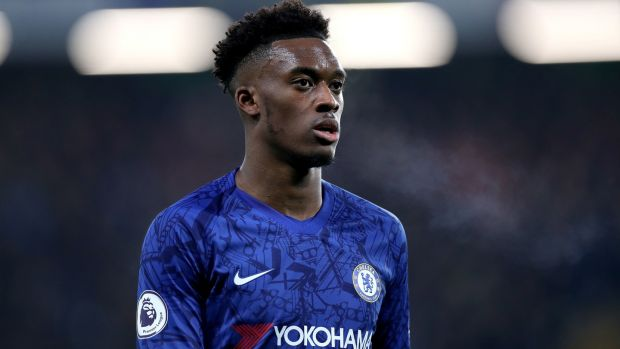 Frank Lampard has said Callum Hudson-Odoi is recovering well from coronavirus. Photoograph: Bradley Collyer/PA