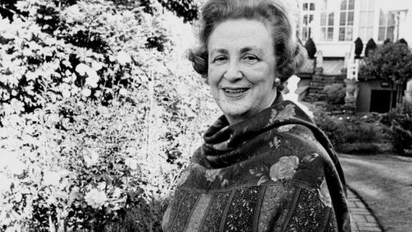 Sybil Connolly in her garden that runs between Merrion Square and Fitzwilliam Lane in Dublin. Photograph: Peter Thursfield / The Irish Times