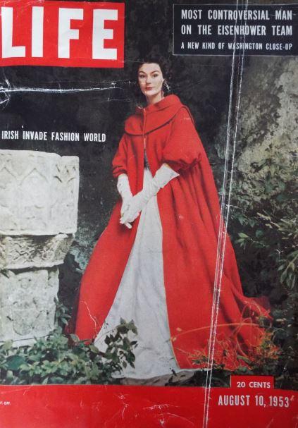 'Irish Invade Fashion World' cover of Life magazine featuring Sybil Connolly's Kinsale cape in 1953. Photograph: Glamourdaze.com