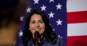 Tulsi Gabbard at a campaign event in Lebanon, New Hampshire last month. File photograph: Brendan McDermid/Reuters