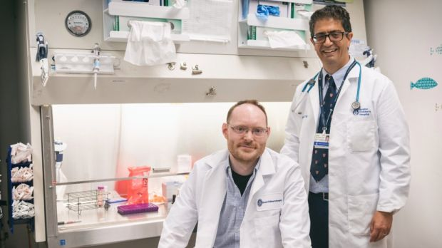 Dr Ofer Levy, director of precision vaccines at Boston Children's Hospital (right) and Dr David Dowling, project manager of the Adjuvant Discovery Program at Boston Children's Hospital