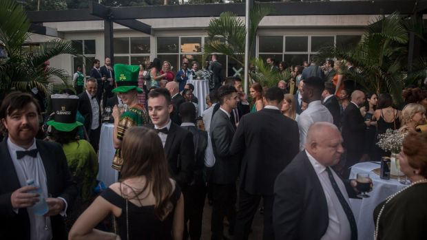 Guests pictured at the St Patrick's Day gala ball in the Sheraton Hotel in Kampala. Photograph: Sally Hayden