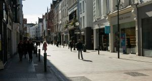 A quiet Grafton Street  in Dublins city centre at the weekend.Photograph: Gareth Chaney/Collins