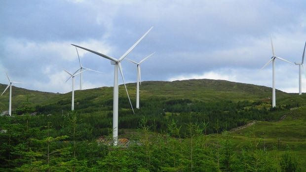 Energia's largest windfarm in Meenadreen, Co Donegal
