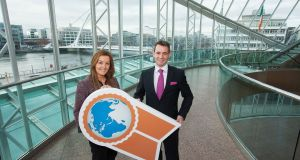 Dawn Walsh of Kernel Capital with Michael Brophy, chief executive of Certification Europe.