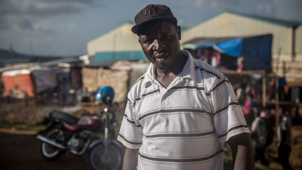 John Kungu, who has been a local council chairperson for the last 29 years, in Namuwongo, Kampala. Photograph: Sally Hayden