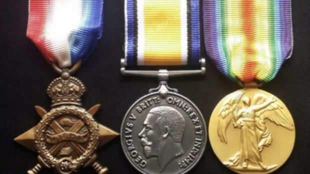 Trio of war medals were emailed to Sheppard's., who confirmed that they were a British WW I campaign trio known affectionately as Pip, Squeak and Wilfred, by consulting Irish Census and British Military Records
