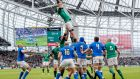 The loss of the Italy Six Nations game at the Aviva stadium  cost the IRFU up to €4 million in revenues. Photograph: Morgan Treacy/Inpho