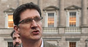 Green Party leader Eamon Ryan: party argues  Fine Gael politicians – from Leo Varadkar to Simon Harris – should retain their key roles during the Covid-19 crisis. Photograph: Aidan Crawley