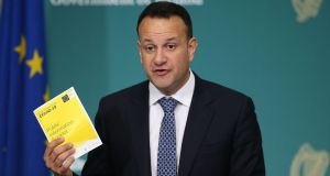 Taoiseach Leo Varadkar: In the midst of the coronavirus crisis, Fine Gael and Fianna Fáil  accept they need to agree a programme for government. Photograph:  Nick Bradshaw